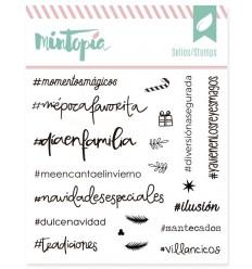 Sello Hashtags Navideños