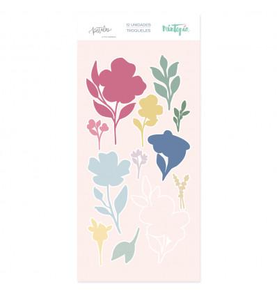 Troquel set de flores sello