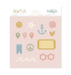 Troquel Aloha Tickets e iconos