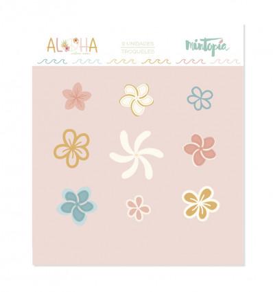 Troquel Aloha Mini Flores tropicales