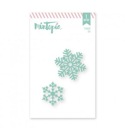Troquel Copos de nieve (3 unidades)