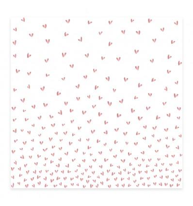 Vellum Lluvia de corazones foil Bonita (10 unidades)