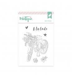 Sello Bici con flores (3 unidades)