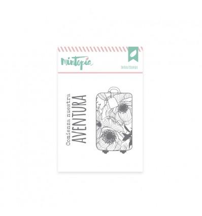 Sello Maleta de flores (3 unidades)