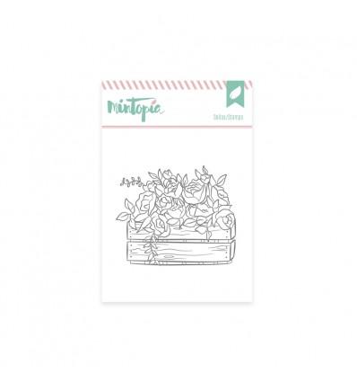 Sello Caja con flores (3 unidades)