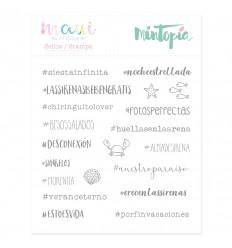 Sello Hashtags de sirena (3 unidades)