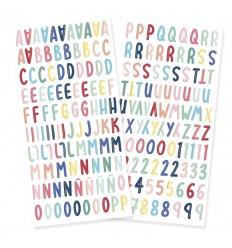 Alfabeto chipboard Cuento de invierno (5 unidades)
