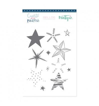Sello Estrellas Decoradas (3 unidades)