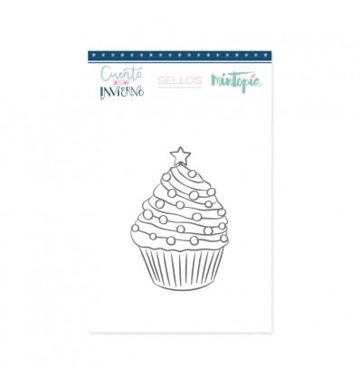 Sello Cupcake Navideño (3 unidades)
