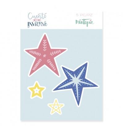 Troquel Estrellas decoradas (3 unidades)