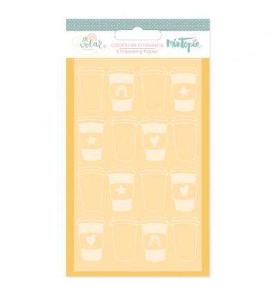 Carpeta de embossing Café (5 unidades)