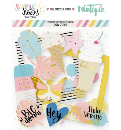 Die cuts vellum Summer Stories