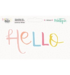 Palabra de metacrilato Hello