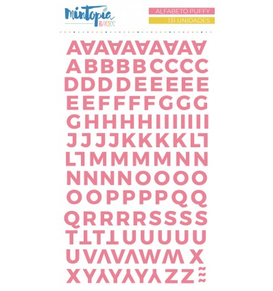 Alfabeto puffy Mintopía Basics Rosa oscuro