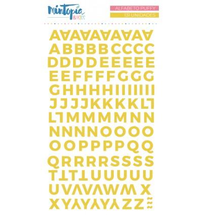 Alfabeto puffy Mintopía Basics Amarillo