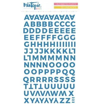 Alfabeto puffy Mintopía Basics Azul oscuro