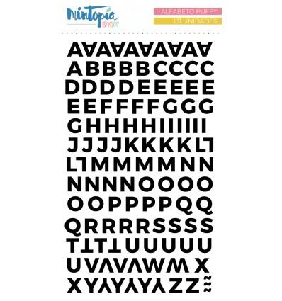 Alfabeto puffy Mintopía Basics Negro