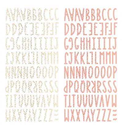 Alfabeto chipboard Muérdago