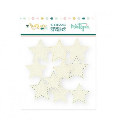 Estrellas de fieltro Muérdago