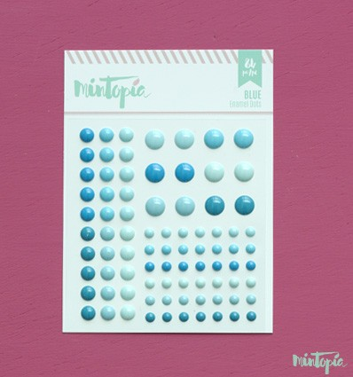 Enamel Dots Blue